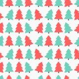 Christmas trees seamless vector Stock Photo