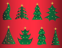 Christmas Trees Set. Stock Images