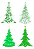 Christmas trees, set Stock Images