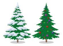 Christmas Trees, Set Royalty Free Stock Image