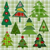 Christmas trees Stock Image
