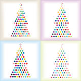 Christmas trees set Stock Photography