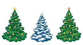 Christmas trees set Royalty Free Stock Photos