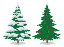 Christmas trees, set Royalty Free Stock Image