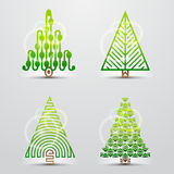 Christmas trees. Set of vector symbols (icons) Stock Photography