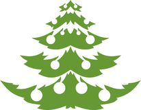 Christmas trees silhouette Royalty Free Stock Photos