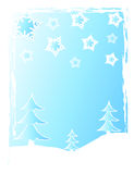 Christmas trees and snow Royalty Free Stock Photo