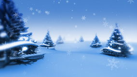Christmas Trees and Snow (Animation Loop) stock video footage