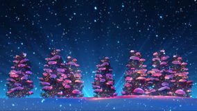 Christmas Trees and Snow (Animation Loop) stock video