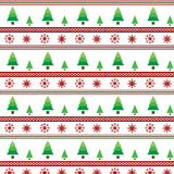 Christmas trees and snowflake seamless pattern vector Stock Images