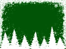 Christmas trees and snowflakes frame Royalty Free Stock Image