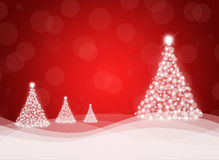 Christmas trees from snowflakes Royalty Free Stock Photography
