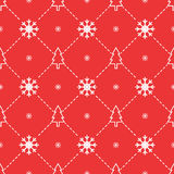 Christmas trees and snowflakes seamless pattern royalty free stock photos