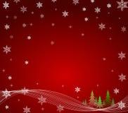 Christmas Trees Star Sky Royalty Free Stock Photo
