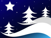 Christmas trees and stars Royalty Free Stock Photography