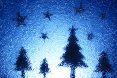 Christmas trees and stars royalty free stock image