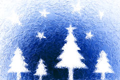 Christmas trees and stars Royalty Free Stock Photos