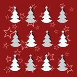 Christmas trees. With stars and shadows for a variety of uses Stock Photo