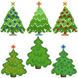 Christmas Trees with stylish mosaic structure Royalty Free Stock Image