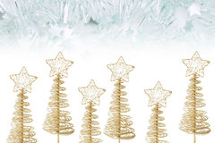 Christmas Trees and Tinsels Royalty Free Stock Images