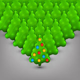 Christmas trees with toys Royalty Free Stock Photography