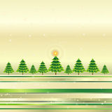 Christmas trees,vector. Christmas trees on the grunge golden background,vector illustration Royalty Free Stock Photography