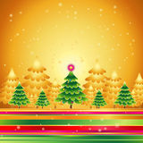 Christmas trees,vector  Stock Images
