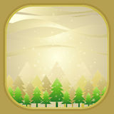 Christmas trees,vector. Vector green christmas tree in the forest,vector illustration Stock Photo