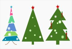 Christmas Trees in Vector Stock Photo