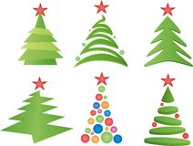 Christmas Trees Vector Stock Images
