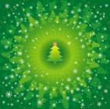 Christmas trees,vector Royalty Free Stock Image