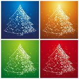 Christmas trees, vector stock image