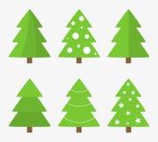 Christmas trees vector Royalty Free Stock Photos