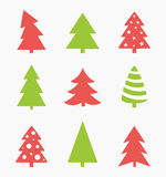 Christmas trees vector Royalty Free Stock Photography
