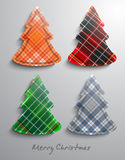 Christmas trees. Vector illsutration background Royalty Free Stock Photos