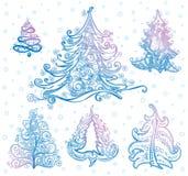 Christmas trees Stock Photos
