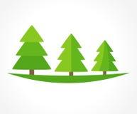 Christmas trees vector Stock Photo