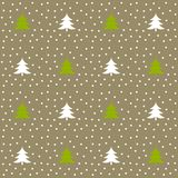 Christmas trees winter pattern. stock illustration