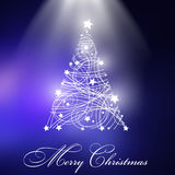 Christmas Trees With Blue Background. Royalty Free Stock Photo