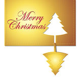 Christmas trendy banner design element. Christmas trendy golden banner design element Royalty Free Stock Photo