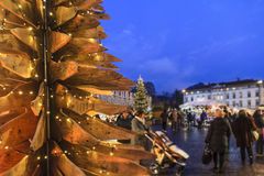 Christmas in Trento, Italy Stock Photography