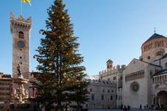 Christmas in Trento Italy stock photos
