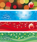 Christmas Tri - Panels. Four christmas banner. Winter  backgrounds Stock Photo