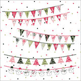 Christmas Triangle Flags Royalty Free Stock Images