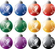 Christmas tribal ornaments. Layered and grouped illustration for easy editing Stock Photography