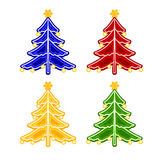 Christmas trimmings Christmas tree faience vector Stock Photography