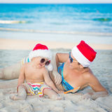 Christmas tropical Royalty Free Stock Photo