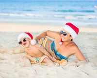Christmas tropical Royalty Free Stock Photos