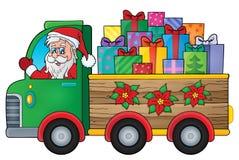 Christmas truck theme image 1 Stock Photos