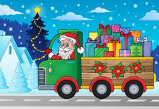 Christmas truck theme image 2 Royalty Free Stock Images